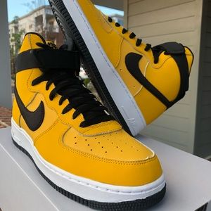 Nike Shoes   Air Force High Top Yellow